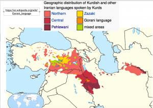 Kurdish languages map 2
