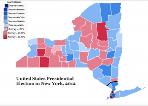 New York 2012 Presidential Electin Map