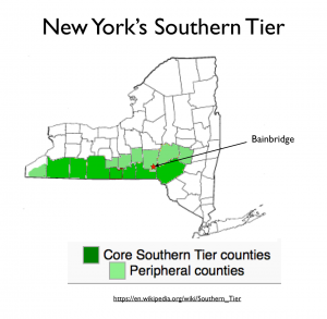 New York Southern Tier Map