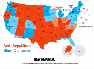 State Secession 2012 Election Map