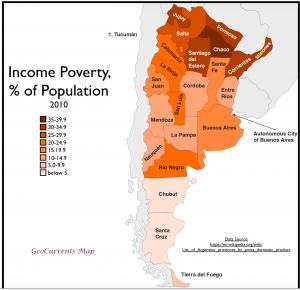 Argenina poverty map