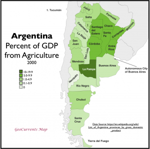 Argentina GDP from Agriculture Map