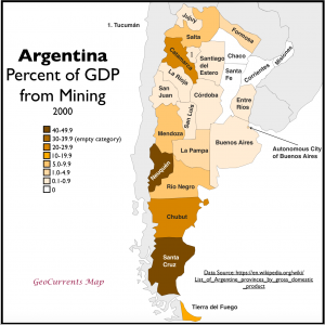 Argentina GDP from Mining Map