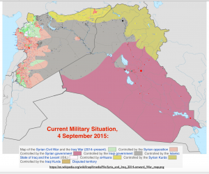 Iraq and Syria Political Situation Map