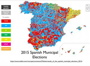 2015 Spanish Municipal Elections Map
