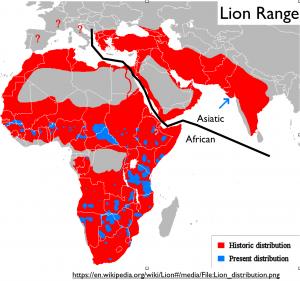 Lion Range Map
