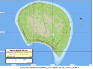 Banaba Island Map