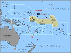 Kiribati Banaba Map