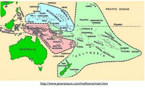 Polynesia Melanesia Micronesia Map