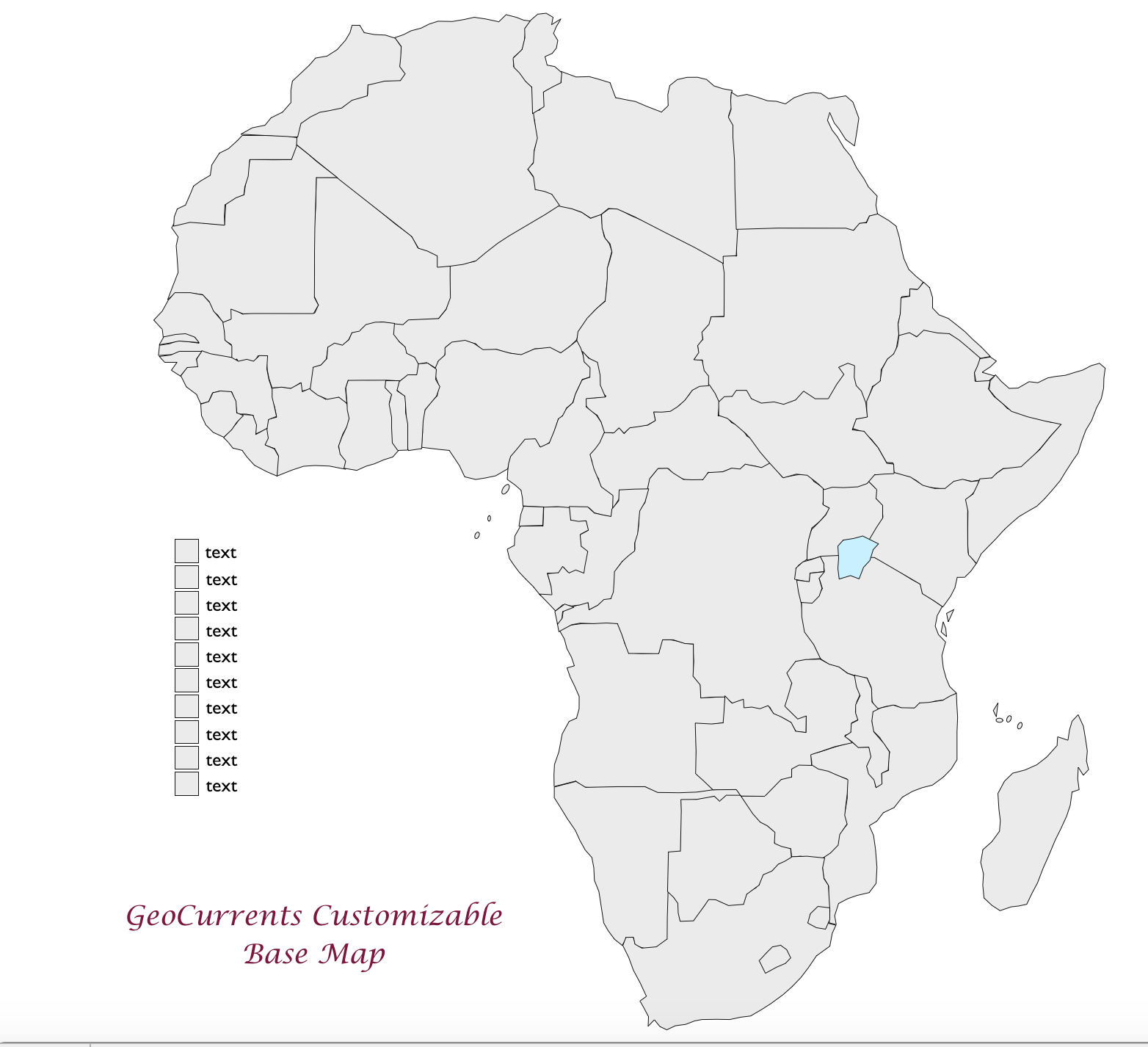Image of: Free Customizable Maps Of Africa For Download Geocurrents