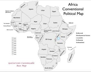 Africa Customizable Map 2