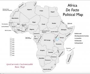 Africa Customizable Map 3