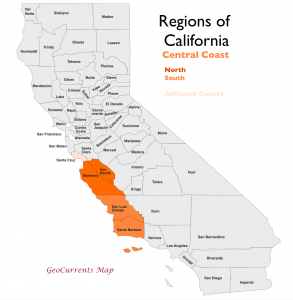 California Central Coast Region Map