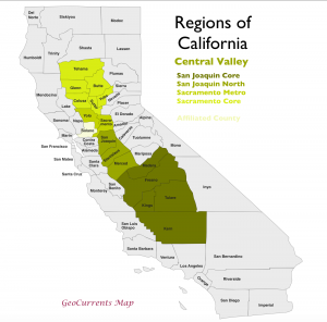 California Central Valley Region Map 1