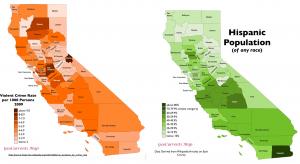 California Crime Ethnicity map 1