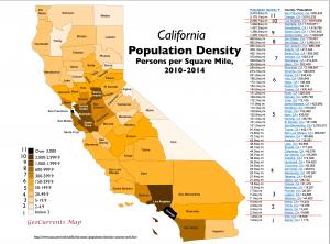 California Population Density Map 1