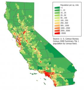 California Population Density Map 3