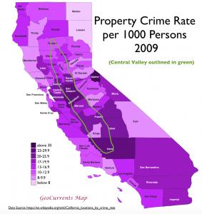 California Property Crime Map