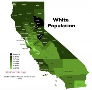 California White Population Map