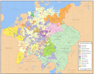 Holy Roman Empire 1648 Map