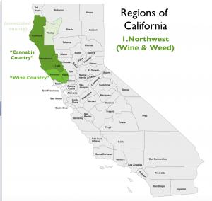 Northwest California Region Map