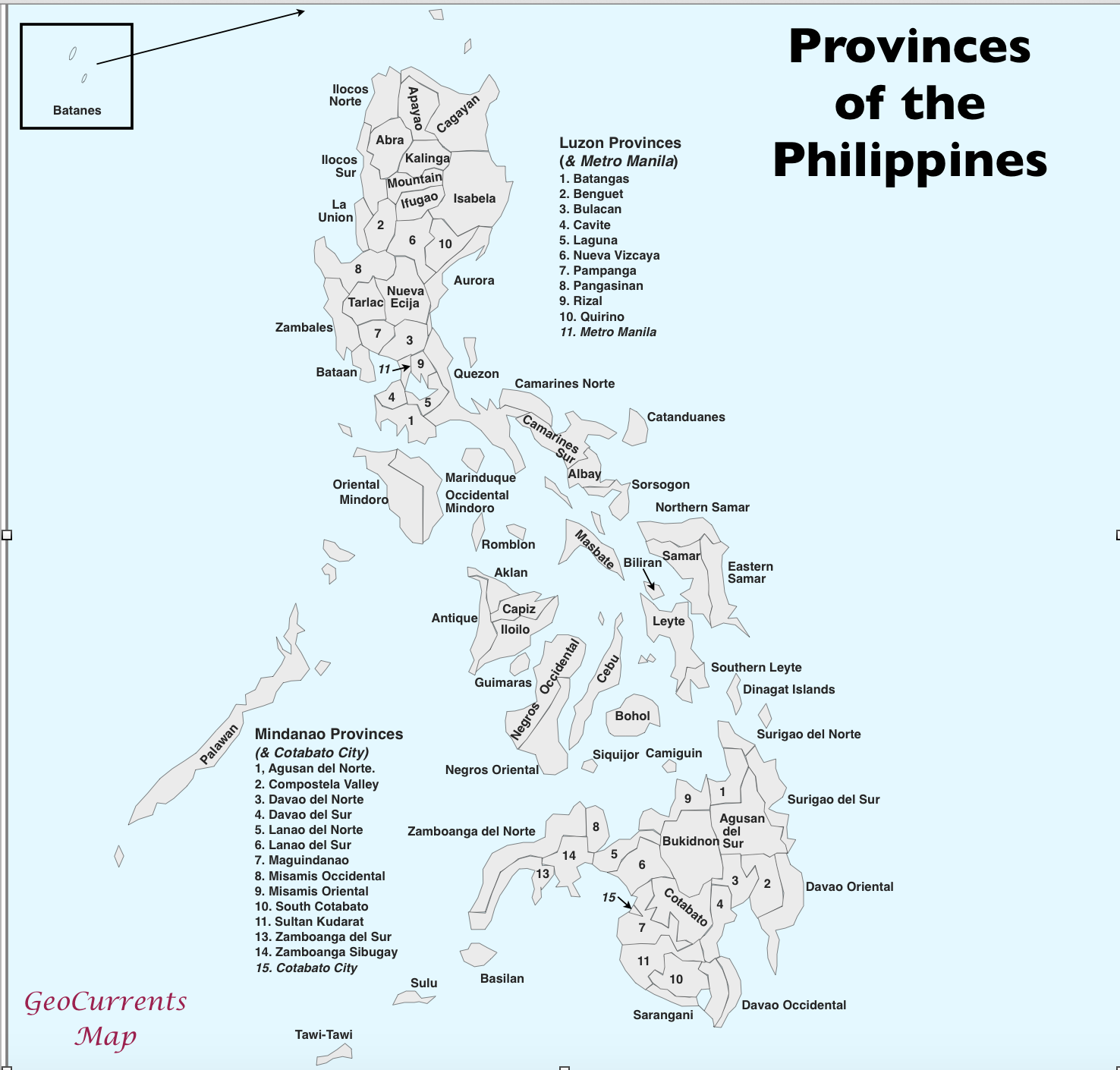 5 Maps Of Philippine Provinces Base Maps of the Philippines & Linguistic/Regional Controversies