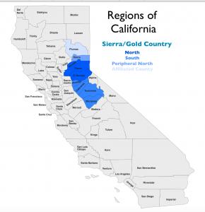 Sierra California Region Map