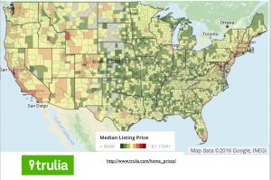 USA Home Price Map