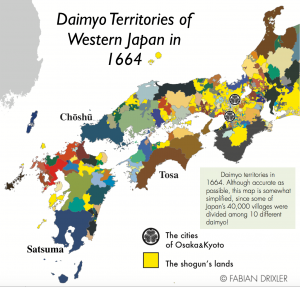 Western Japan Daimyo Territories Map