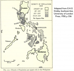 Philippines Popluation Density 1939 Map