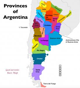 Argentina Provinces Map