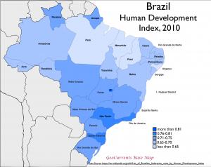 Brazil 2010 HDI Map