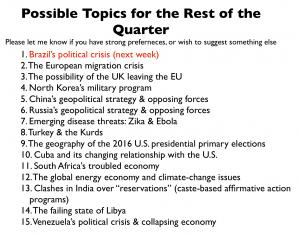 Class Topics