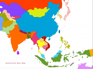 Eastern and Southern Asia Map