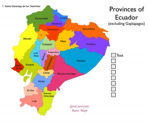 Ecuador Provinces Map