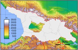 Georgia Physical Political Map