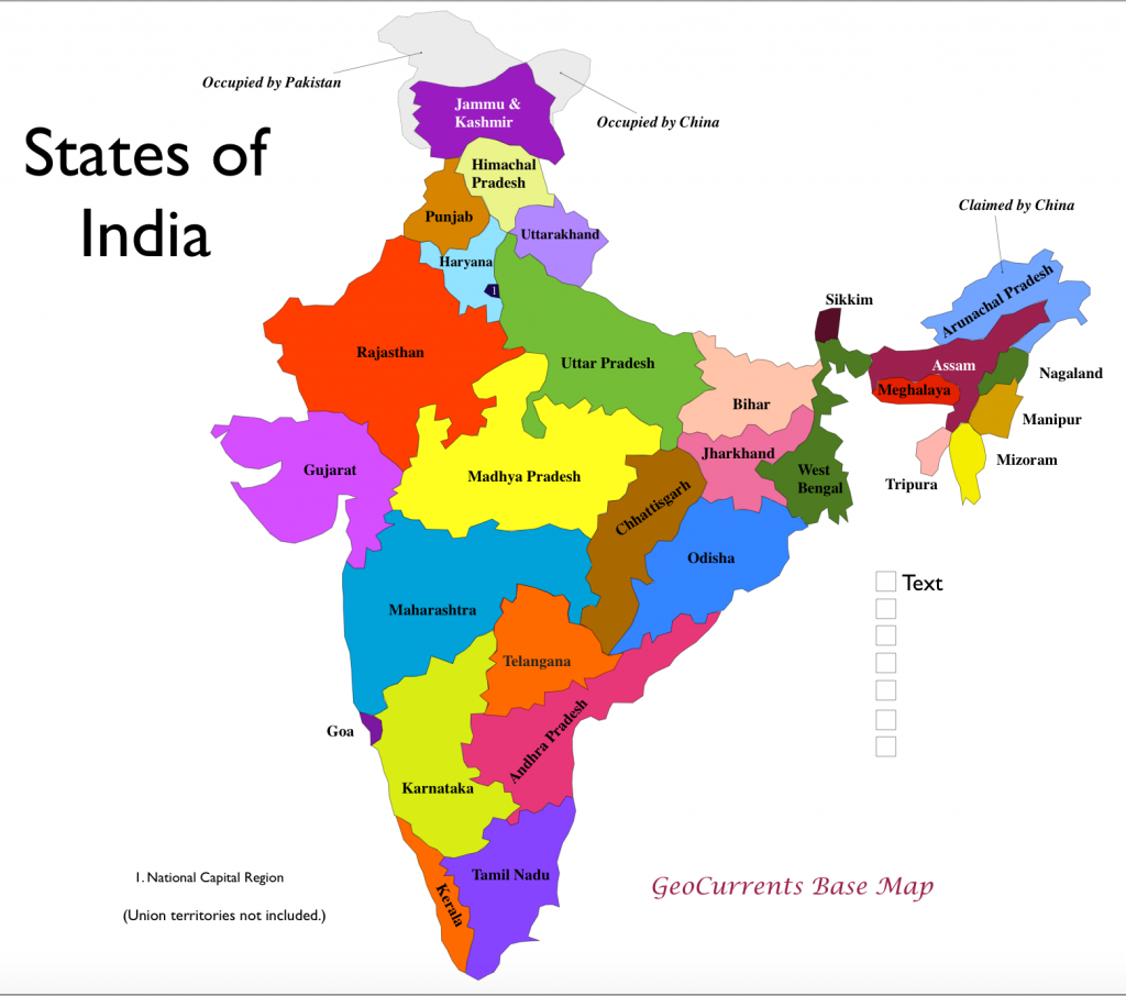 Current Map Of India | Park Map