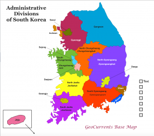 South Korea Divisions Map