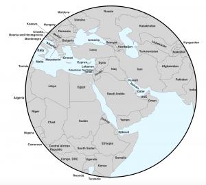 Southwest Asia Northwest Africa Map