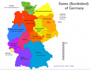 States of Germany Map