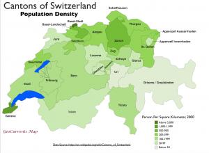 Switzerland Population Density Map