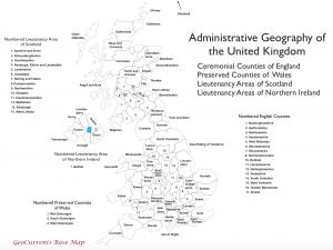 UK Names Divisions Map