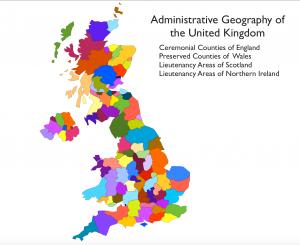 United Kingdom Divisions Map
