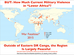 Lower Africa War Fatalities 2015